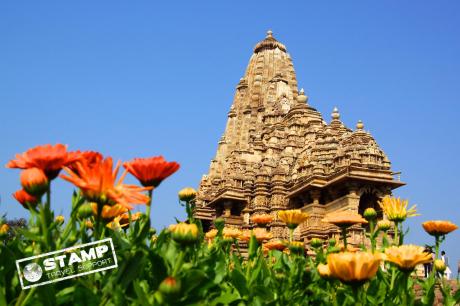 Stamp: India – Khajuraho – Erotische tempels