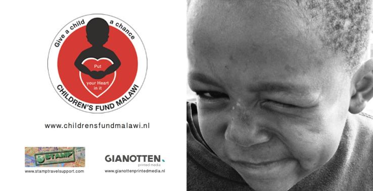 Ontwerpen zwart -wit antsichtkaarten voor Stichting The Children's Fund Of Malawi.