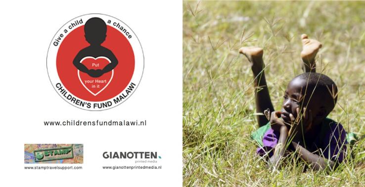 Ontwerpen kleur antsichtkaarten voor Stichting The Children's Fund Of Malawi.