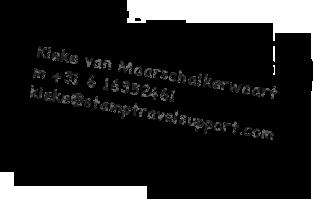 Stamp Travel Support - Kieke van Maarschalkerwaart